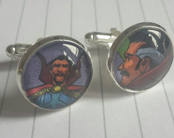 Recycled Comic Book 'Dr Strange' Comic Cufflinks - Upcycled & Unique Comic Cufflinks
