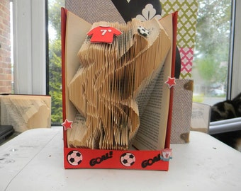Football Folded Book Art