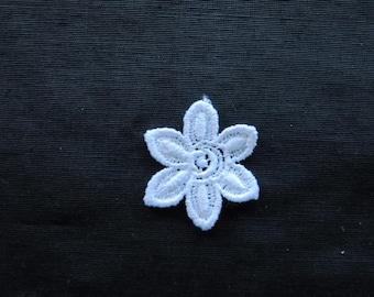 Flower Applique Six Petal Venise Lace 6007