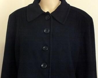 Albert Nipon women coat size 14, wool & cashmere MADE IN USA