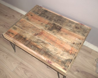 Driftwood coffee table, reclaimed coffee table,  plank table, wooden furnature.plank coffee table