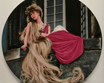 Vintage German Rapunzel Decorative Wall Plate by Charles Gehm