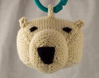 Polar Bear Knit Wool Rattle