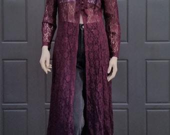Purple Lace layering jacket  Vintage 80's-90's  Sz Medium