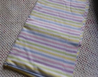 Vintage cotton candy striped single flat bed sheet
