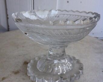 Antique cut glass salt