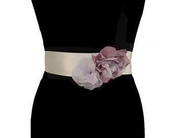 Floral Bridal Sash, Wedding Dress Belt, Floral Sash, Bridal Belt, Beaded Sash, Wedding Belt, Crystal Belt,