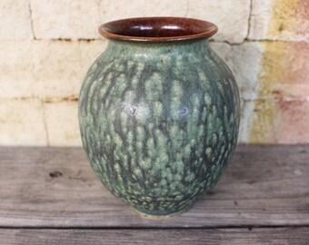 Round Green Ash Vase