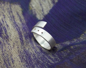 Simple Silver Wrap Ring