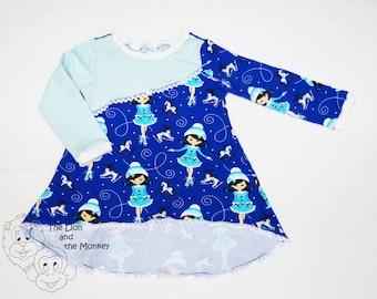 Little Ice Skater - Girls dress - 18-24 months