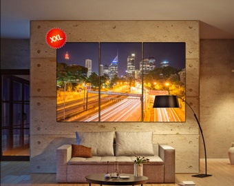 Sydney canvas art prints large wall art canvas print Sydney Wall Home office decor interior Office Decor