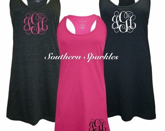 Swimsuit Cover Up ~Monogrammed Tank Dress ~ Personalized Bathing Suit Cover Up ~ Beach Cover Up ~ Sleepy Tank