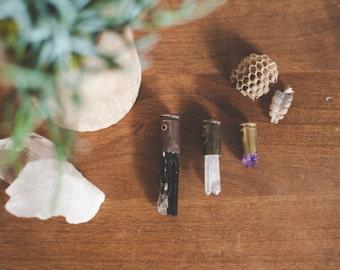 Crystal Bullet Pendants