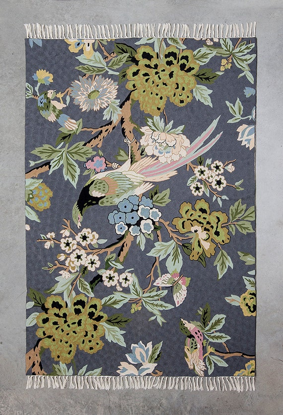 Gray Area Rugfloral Area Rugs 5x7 Area Rug Modern By Carpetism