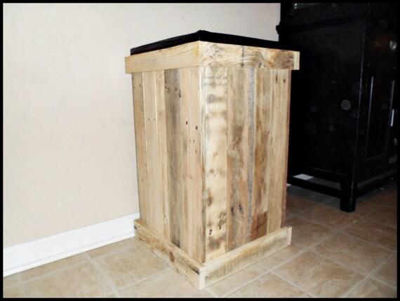 Rustic Wood Trash Can Laundry Basket Clothes Hamper 30