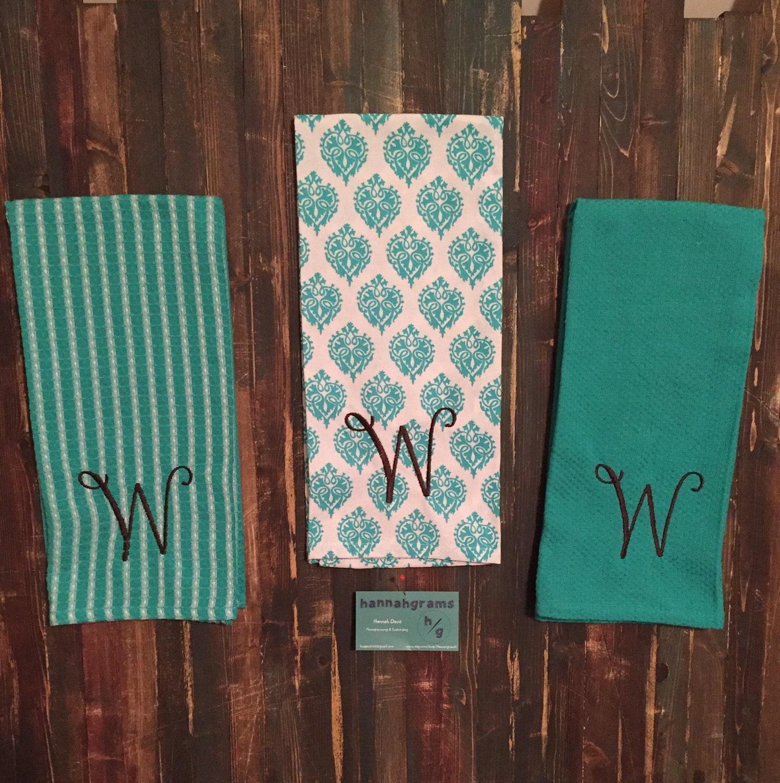 Monogrammed Kitchen Towel Set
