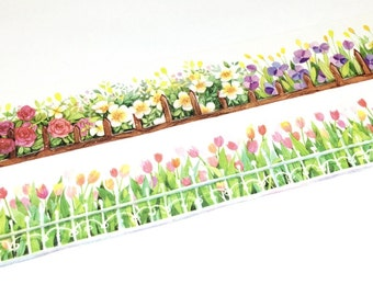 Floral planters washi tape (T00603)