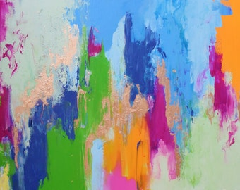 Golden Summer Abstract Painting