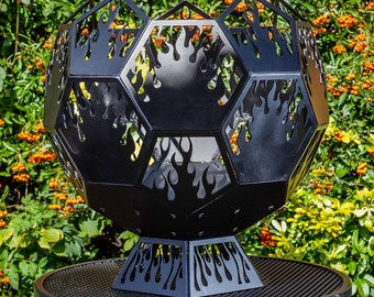 Geodesic Globe Fire-Pit