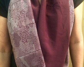 Burgundy Silk Kimono Infinity Scarf