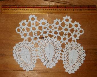 Vintage White Crocheted Embellishment • vintage charm