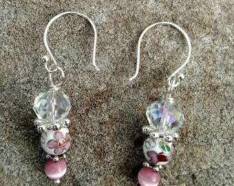 Pretty in Pink Spring Floral Earring