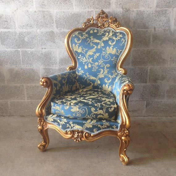 Cost To Reupholster Wingback Chair Damask antique italian 1 chair left rococo french louis xvi wingback