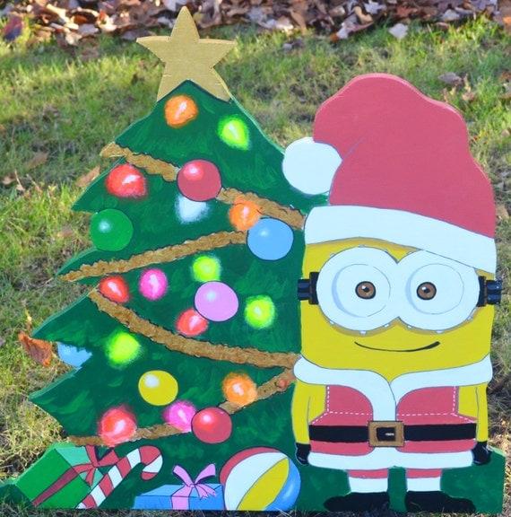 Minion As Santa Clause On Christmas Lawn Decoration