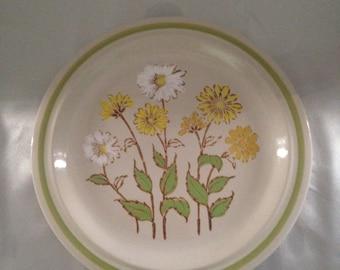 Stoneware Daisy Plate,Daisy Stoneware Dinner Plate,Stoneware Daisy Design,Design Eight Stoneware 1551 Daisies