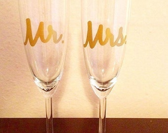 Toasting Flutes - Set of TWO
