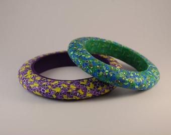 Cuff in clay polymer design mosaic