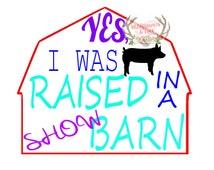 Raised In A Show Barn- Pig, FFA-4H-Livestock SVG file