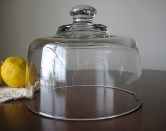Glass  Cloche Display, Clear Glass Dome, 6 1/2""