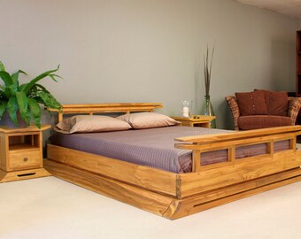 king platform bedbedroom furniturewood bedbed frametwin bedwood furniturequeen beddouble bed sizetwin bed kyoto