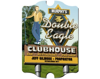 Personalized Man Cave Sign - Vintage Bar Sign - Man Cave Decor - Double Eagle Marquee