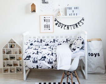 Panda Bedding - Baby Bedding Crib Bedding Set Nursery Bedding