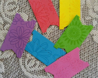 Planner tabs, Blank index tabs, page markers, colorful floral index tags