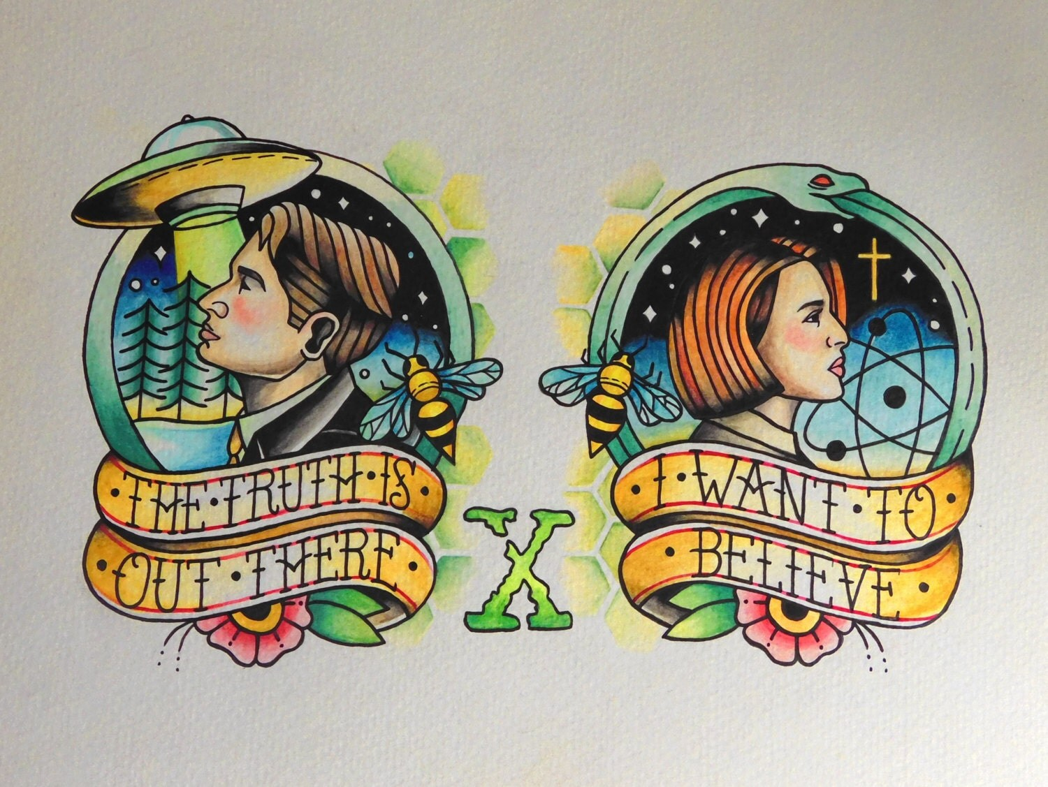 The x files coloring book - The X Files Inspired Flash Print