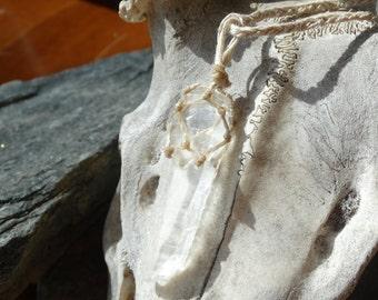 Hemp Wrapped Quartz Necklace