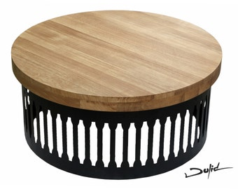Loft round coffee table - Drum