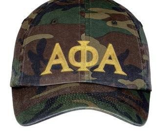 Alpha Phi Alpha Lettered Camouflage Hat