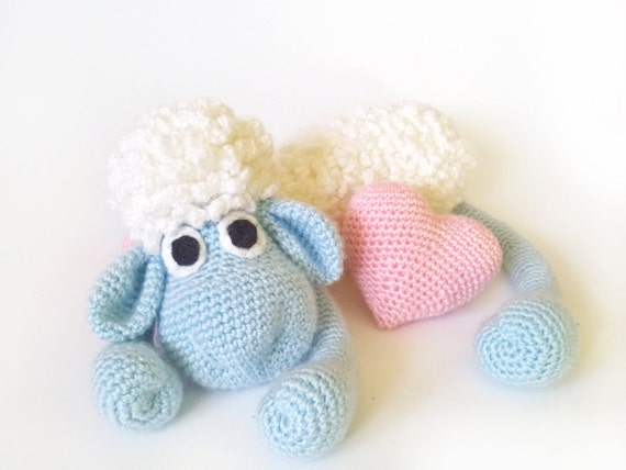 Amigurumi Sheep Doll : Amigurumi Animals Valentines day Sheep crochet Plush Crochet