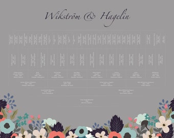 Family Tree Print | Personalized Family Tree | Custom Family Tree | Anniversary Gift | Family Tree Chart | 6 Generations | Wedding Gift