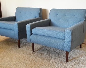 Mid Century Pair of Lounge / Arm Chairs