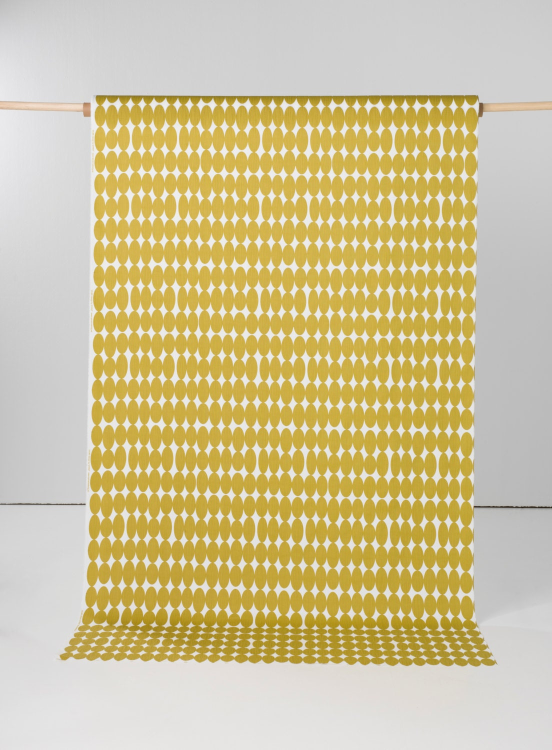 One Metre Left Yellow Fabric Geometric Fabric Retro Fabric Home Decor Fabric Extra Wide Fabric