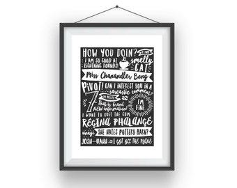 Friends TV Show Quotes Print
