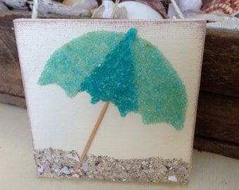 Beach umbrella, Beach art, Coastal Art, Beach Life, Coastal Decor, Coastal Decor,