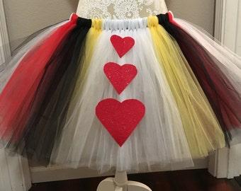 Halloween Tulle Costume, queen of hearts skirt, adult, teen