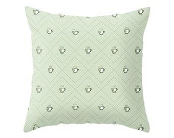 Tea Pillow - Icon Prints: Drinks Series