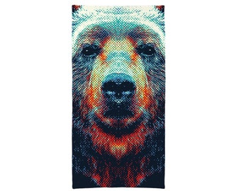 Bear Towel - Colorful Animals
